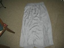 CHICOS SOLID MAXI SIDE SLIT GRAY SKIRT NWOT 2