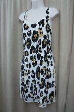 W118 by Walter Baker Evening Dress Sz M White Animal Print Seqiun Cocktail Dres
