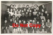 Original 1955 JAPANESE Pic #26 Class Group Photo with 2 Priests - JAPAN VINTAGE