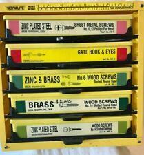 Serv A Lite Hardware Parts Storage Cab 5 Drawer Organizer Withmetal Amp Wood Screws
