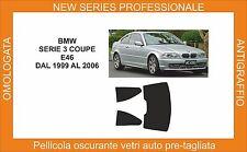pellicola oscurante vetri bmw serie 3 coupè e 46 dal 1999-2006 kit posteriore