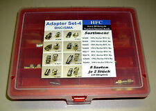 Adapter Sortiment (16 Stück) - Set 4  BNC/SMA - 8 Sorten je 2 Stück