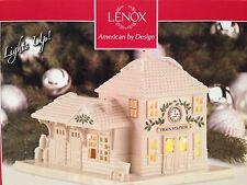 Lenox Christmas Village Train Station Lighted NIB
