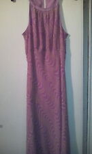 Pure Silk Planet sleeveless Lilac/Green Dress size14
