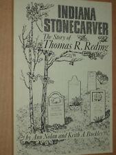 Indiana Stone carver Tombstone Grave Marker Thomas Reding Artist Engraver