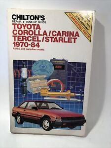 Chilton Manual Toyota Corolla/Carina/Tercel/Starlet 1970-84 #7036 Free Shipping