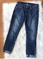 7 For All Mankind Skinny Crop & Roll Jeans 24 Boyfriend