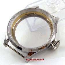 Polisehd 43mm sterile Watch CASE sapphire glass fit eat 6498 6497 movement