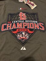 Vintage MLB St. Louis Cardinals NLDS 2009 Adult Tee Shirt Sz L by Majestic NWT