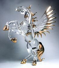 PEGASUS HORSE - Gild Wings 4.5 INCHES Hand Blown ART GLASS Figurine Myth - GIFT