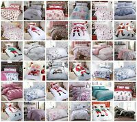 Christmas Father Xmas Pug Duvet Cover Pillow Case Bedding Set Single Double King