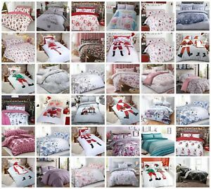 Christmas Father Xmas Pug Duvet Cover Pillow Case Bedding Set Single Double King