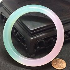 NATURAL BEAUTIFUL GREEN LAVENDER JADE JADEITE BRACELET BANGLE 62MM
