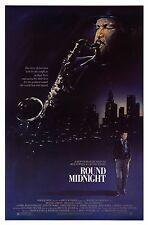 ROUND MIDNIGHT (1986) ORIGINAL MOVIE POSTER  -  ROLLED  - STEVEN CHORNEY ARTWORK