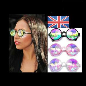 Kaleidoscope Glasses Rave Sunglasses Festival Diffracted Rainbow Hippy Retro UK