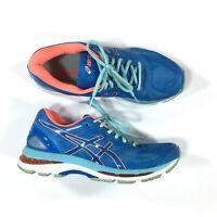 Asics Gel-Nimbus 19 Running Shoes Womens Size 9.5 Blue Peach T750N