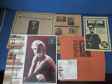 Nick Lowe 1996 Japan Tour Souvenir Live in Europe CD in Picture Sleeve w Flyer