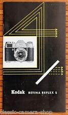 Kodak prospectus rétine reflex s caméra objective accessoires brochure (x2890