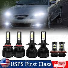 For Mazda 3 2004 2005 2006 6x 9005 H7 Headlight & H11 Fog Light LED Combo Bulbs