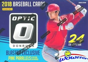2018 Donruss Optic Baseball EXCLUSIVE Factory Sealed Blaster Box-6 PINK PRIZM !