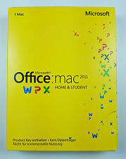 Microsoft Office Mac 2011 Home and Student Vollversion Deutsch PKC GZA-00287