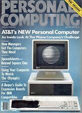 magazine, nostalgic, collectible, Personal Computing 1984-07