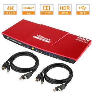 TESmart 4K@60Hz 4x1 HDMI KVM Switch Audio Switcher 4K@60Hz 4:4:4 USB 2.0 Devices