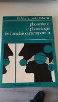 Phonetique et phonologie de l'anglais contemporain - Keen Adamczewski