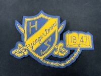 Vintage Yeagertown PA Pennsylvania High School Wool Pennant Patch 1947 FREE SHIP