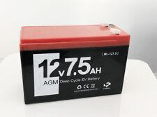 Brand New 12V 7Ah 12Volt 7.5Amp Hour Sealed Lead Acid Rechargeable Battery UPS