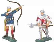 Britain 43017 Agincourt English Longbowman and Jean le Maingre Gloss 2 fig MIB