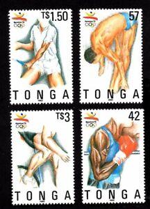 Olympic Tonga 1992 set of stamps Mi#1229-32 MNH CV=18€
