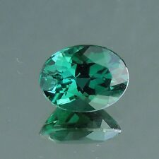 Vivid greenish blue indicolite tourmaline Brazil 2.17 carats chipped for recut