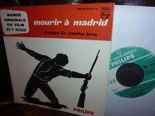 "Maurice Jarre Mourir a Madrid Film EP France 7"""