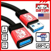 USB 3.0 Super High Speed Male A to Female A Extension Cable Cord Metal Case PC