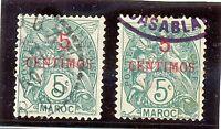 MARRUECOS BUREAUX FRANÇAIS YT 1902-03 Nº11d