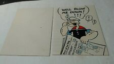 1934 Popeye Hallmark Card Well Blow Me Down used