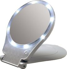 Lighted Mirror With 8 LED bulbs Travel and Home LED 10x and 1X, Bathroom, Office