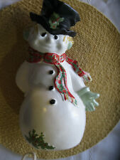 Vintage Ceramic Frosty The Snowman Byron Molds 1971 Christmas Theme
