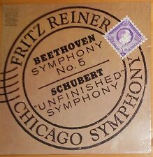 """SEALED=BEETHOVEN SYMPHONY #5, SCHUBERT """"UNFINISHED""""FRITZ REINER; RCA GOLD STEREO"""