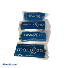 💕 Real D Passive 3D glasses Lot of 4 Brand NEW