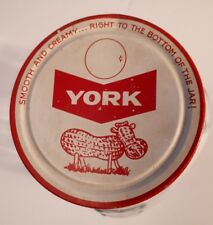 "RARE CANADIAN (TORONTO, ONT) ""YORK PEANUT BUTTER"" JAR W/ LID - NO PAPER LABEL"