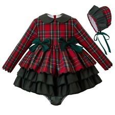Christmas Girls Dress + PP Pants + Bonnet Size 18-24 M