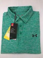 Nwt Under Armor Loose Heat Gear Golf Polo Twist Green Shirt/Top Sz Small
