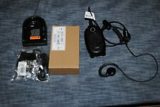 2 MOTOROLA CLP1040 UHF 2 WAY RADIOS + SINGLE CHARGER + HEADSETS + WARRANTY