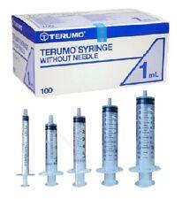 Terumo Sterile Syringes - 1ml, 2.5ml, 5ml,10ml, 20ml, Luer Slip Hyperderic
