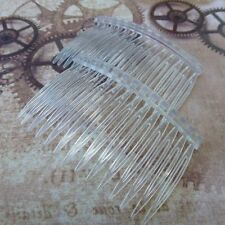 10 piezas de acrílico Pinzas Para El Pelo Peines Accesorios para el cabello de componentes Transparente