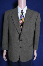 New listing Vtg '90s Alan Lebow nailshead green brown two button wool sport coat blazer 43