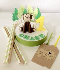 Edible Monkey Number Name Leaves For Monkey Theme Birthday Cake