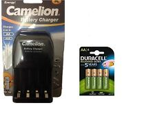 AA/AAA BATTERY CHARGER 4 x AA 2500 mAh  DURACELL DURALOCK RECHARGEABLE BATTERIES
